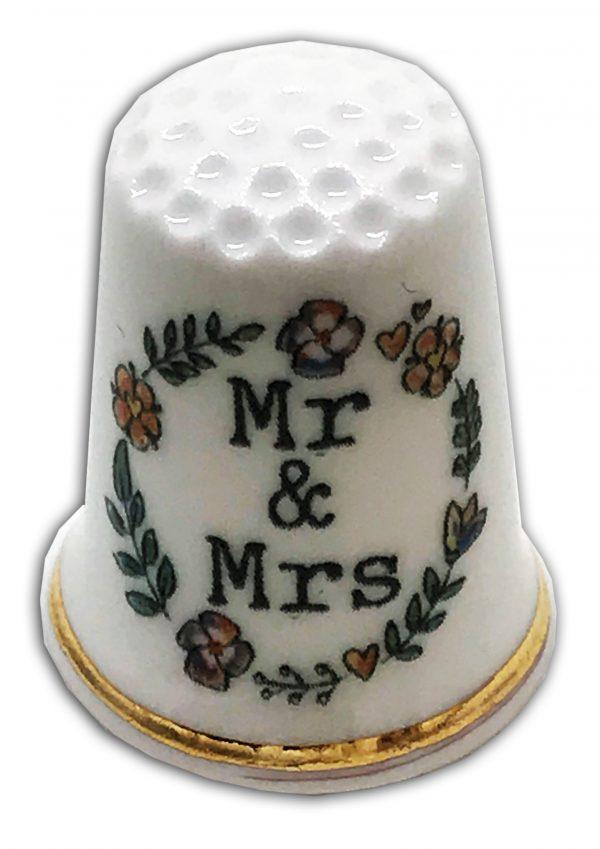 mr and mrs wedding anniversary thimble