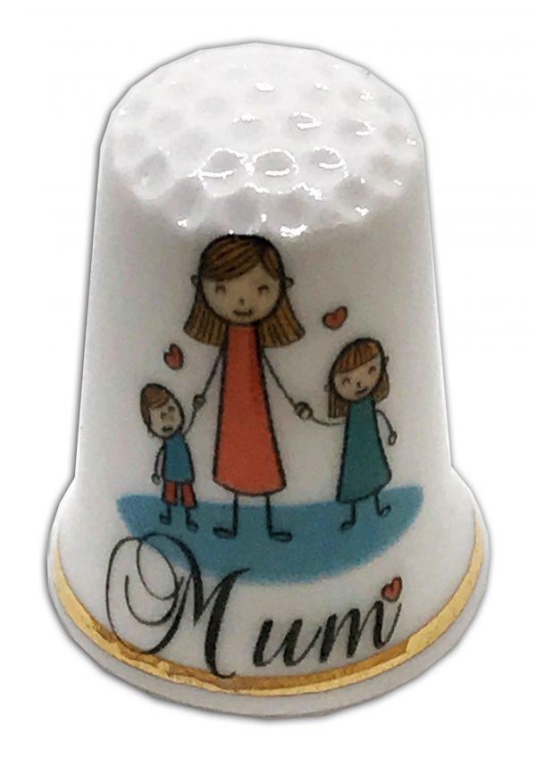 Mum thimble, mother's day thimble