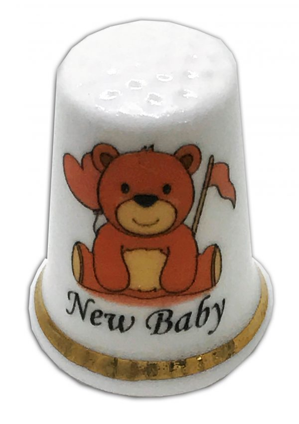 new baby personalised china thimble