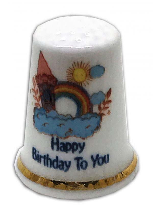 rainbow happy birthday to you thimble