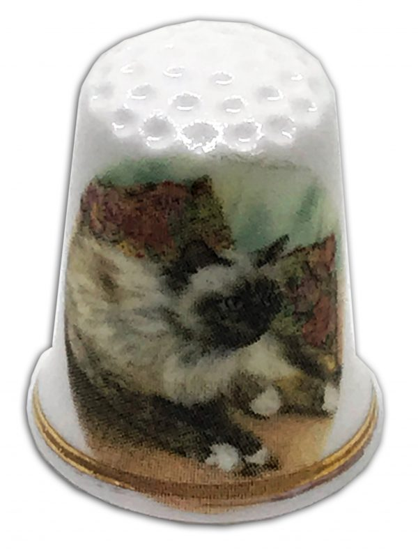 Siamese cat china thimble