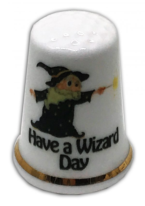 Personalised wizard birthday thimble