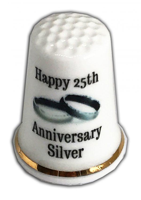 25th wedding anniversary thimble