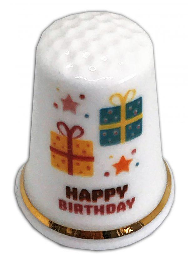 birthday presents personalised china thimble