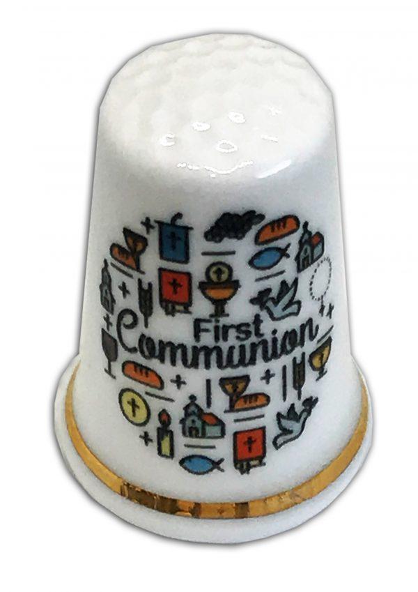 my first communion personalised china thimble