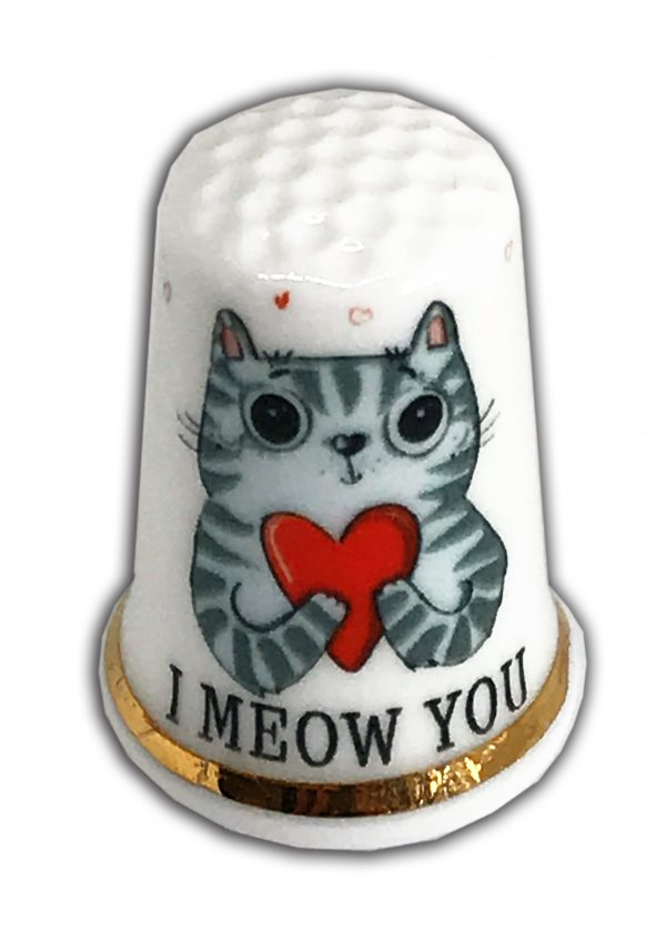 I meow you personalised cat thimble