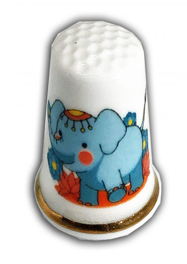 baby elephant personalised china thimble