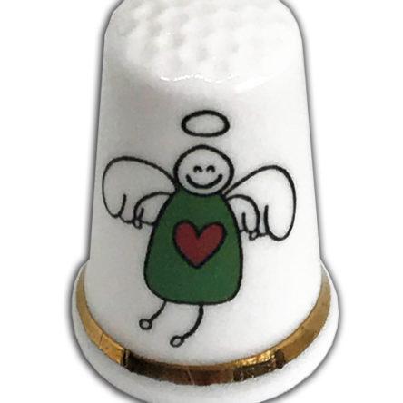 Christmas Angel Personalised China Thimble
