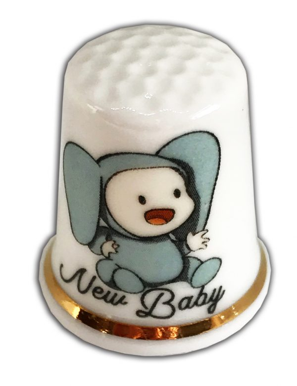 cute baby elephant outfit personalised thimble