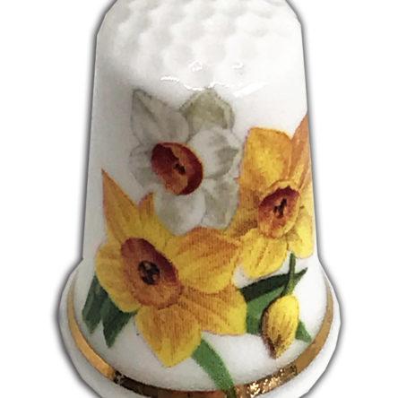 Daffodils Personalised Thimble Design 2