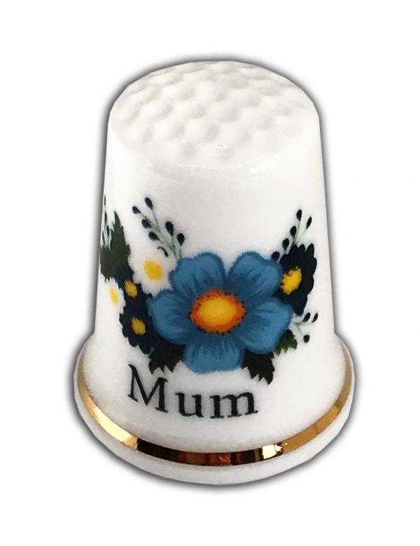 Personalised China Floral Mum Thimble