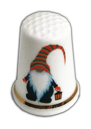 Scandinavian Gnome Gonk Personalised Thimble