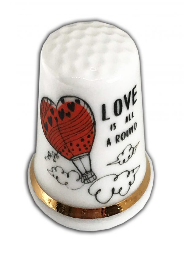 Love Is All Around Heart Thimble