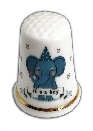 Its A Boy Christening New Baby Baptism Thimble