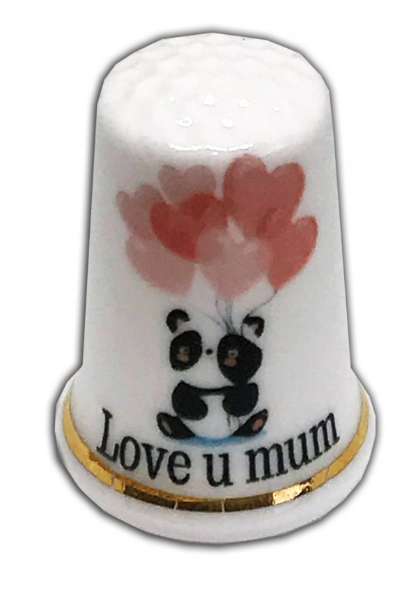 love you mum panda china thimble