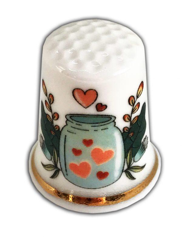 wedding anniversary engagement personalised china thimble