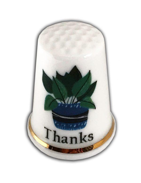 Thanks Personalised China Thimble