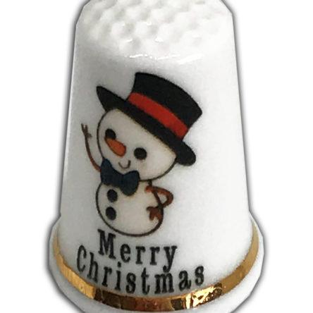 Christmas Snowman Design 3 Thimble