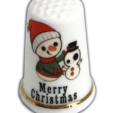 Christmas Snowman Design 4 Thimble