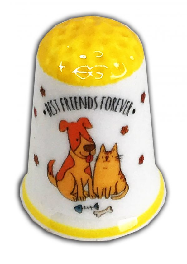 Best Friends Forever Personalised China Thimble