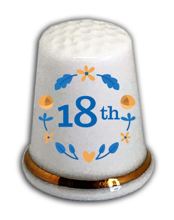 Happy 18th Birthday thimble