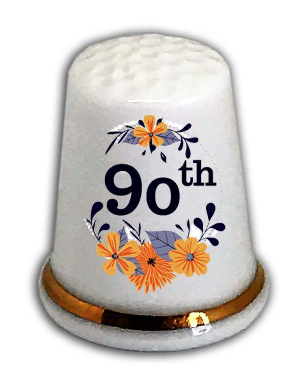 Happy 90th Birthday thimble from the thimble guild