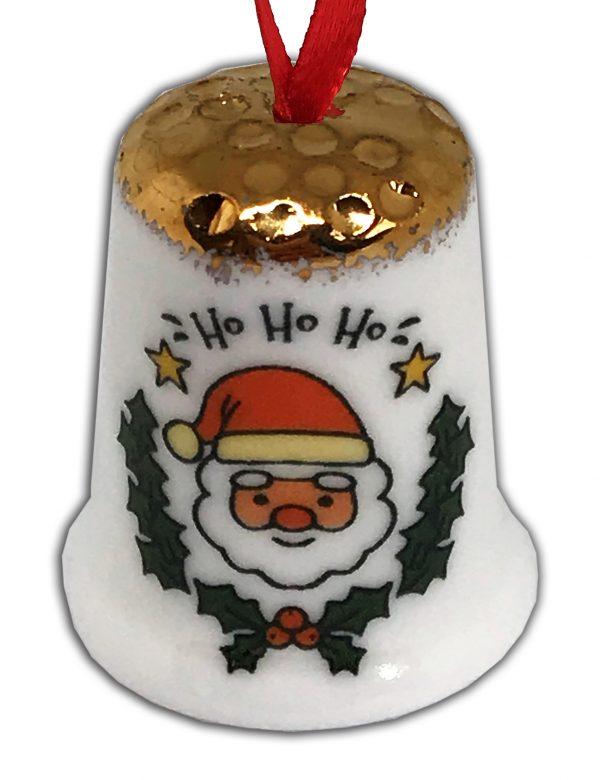 christmas ornament thimble, hanging Christmas thimble, Xmas Gift