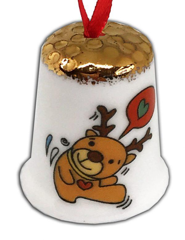 hanging Christmas tree thimble, Christmas gift