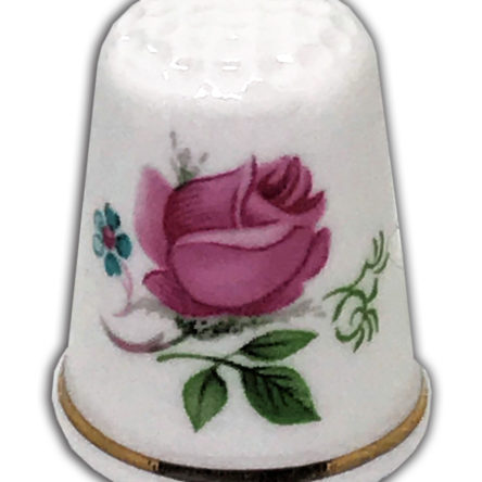 Pink Dubarry Rose Personalised Thimble