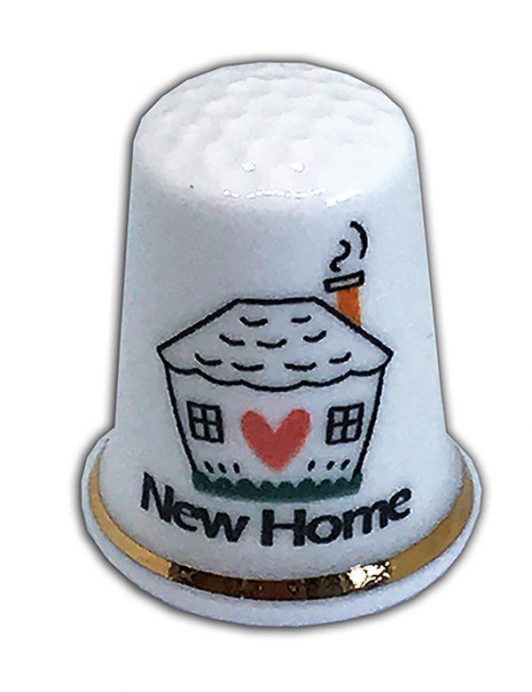 new home personalised china thimble