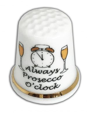 Prosecco o'clock personalised friendship birthday thimble