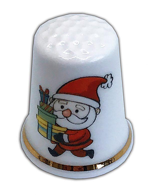 personalised Christmas Santa china thimble