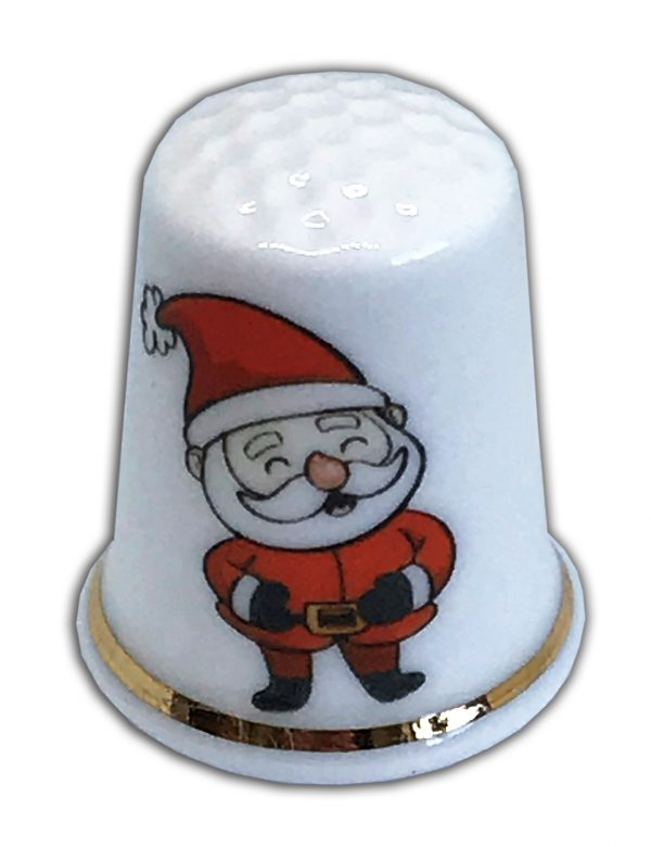 personalised Christmas Santa china thimble