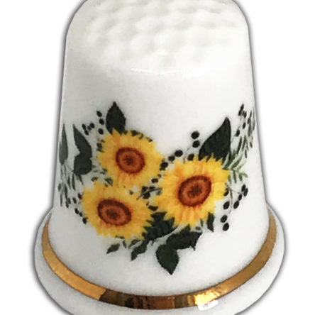 Sunflowers Personalised Thimble, Ideal Birthday Gift