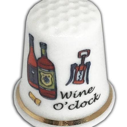 Wine O'Clock Personalised Thimble, Birthday Friendship Gift Funny Thimble