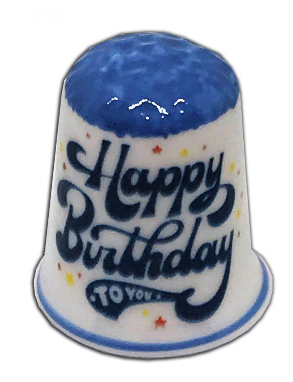 Happy Birthday To You personalised china thimble