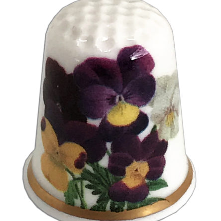 Pansy Personalised Thimble