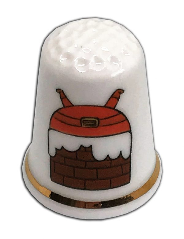 Personalised Christmas thimble from the thimble guild
