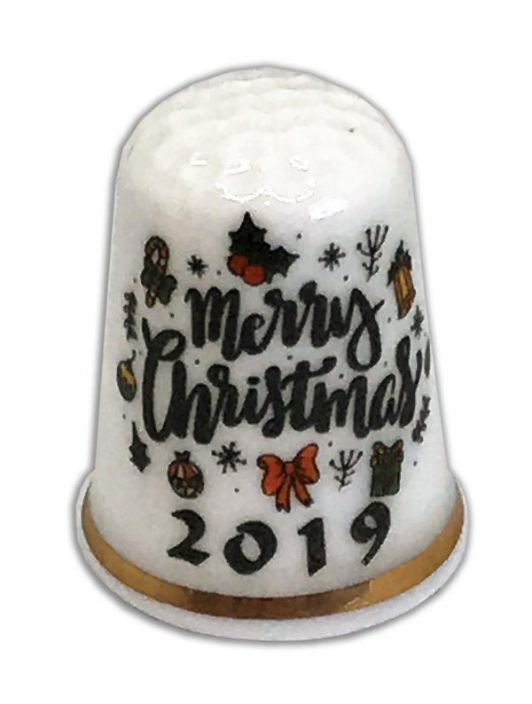 Merry Christmas 2019 China Thimble